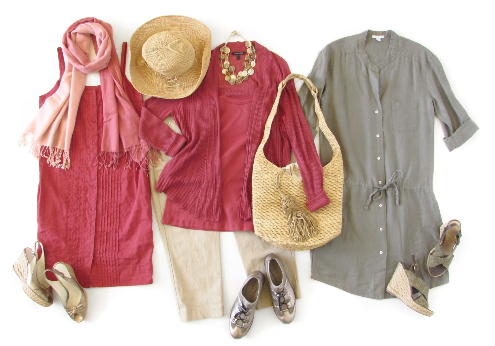 Spring / Summer Weekend Getaway Capsule Wardrobe